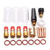 22Pcs TIG Welding Stubby Gas Lens Kit For WP-17/18/26 Series Torches 2.4mm 3/32