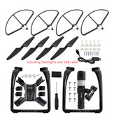 Upgraded Propeller Blade Protector Flashlight Black Kit RC Quadcopter Parts for Hubsan H501S