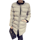 Winter Thick Warm Long Sleeve Loose Down Long Coat