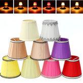 Tissu Lustre Abat Holder Clip on Sconce Chambre côté lampe de lit Lumière Hanging