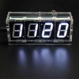 Geekcreit® DIY 4 kit de Reloj Electrónico de LED Kit Versión de Control de la Luz de la Temperatura