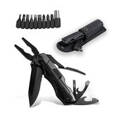 IPRee® 10 In 1 EDC Pocket Folding Pliers Cutter Screw Bits Set Outdoor Camping Survival Tools Kit