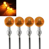 4pcs 12V Motorcycle Turn Brake Signal Lights Bulb Lamp Amber Indicators