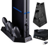 Dual Cooling Fan Vertical Stand Charging Station Game Controller Charger for Sony Playstation 4 PS4 Gamepad