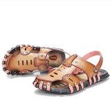 Hombre Playa Sandalias Verano zapatillas Soft Zapato de microfibra de fondo plano zapatillas Tamaño 6.5-11.5