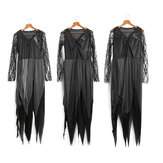 Halloween Party Home Zombie Ghost Bride Women Dress With Black Headdress Toys Props