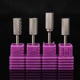 4pcs Electric Carbide Nail File Drill Bits Kit Polish Cylindrical Manicure Tools