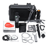 12 in 1 SOS Outdoor Emergency Survival Gear Kit Equipment Box For Camping Hiking Safety Tools