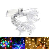 3M Battery Powered Moon Shape Warm White Colorful 20 LED String Fairy Light Holiday Decor DC3V