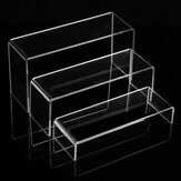 3-Tier Clear Acrylic Shoe Display Stand Jewelry Cosmetics Rack Organizer Riser Transparent