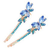 Sweet Crystal Butterfly Hairclip Fashion Head Accessories