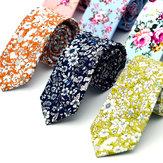 Hommes Mariage Coton Impression Floral Cravates Cravate Suit Cravate Cravate Pour Hommes