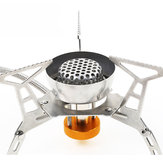 Hewolf Portable Outdoor Gas Stove Stainless Steel Split Type Windproof Furnace Burner