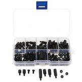 Suleve™ M3NH5 M3 Nylon Screw Black Hex Screw Nut Nylon PCB Standoff Assortment Kit 180pcs
