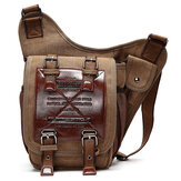 Men Canvas Retro Travel Cycling Crossbody Bag Chest Bag
