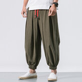 Men's Cotton Loose Comfy Baggy Jogger Casual Pants