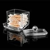 Q-tip Boîtes de Rangement pour Coton Porte-tige Acrylique Transparent Etui Maquillage Cosmétique Hôtel Fournitures