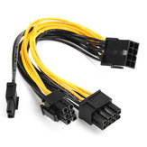 Original 5pcs PCI-E 8-pin to 2x 6+2-pin Power Splitter Cable PCIE PCI Express Splitter Ribbon Miner Cable