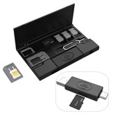 Multi-function Type-c Micro USB OTG USB 2.0 TF Card Reader with SIM Card Adapter Card Collection Storage Box