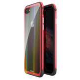 Original Luphie Protective Case For iPhone 7/7 Plus/8/8 Plus Gradient Color Scratch Resistant Tempered Glass+Aluminum+TPU Back Cover
