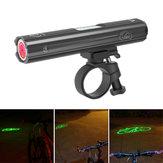 XANES XL23 Bicycle Laser Headlight Laser Warning Signal Light Aluminum Alloy 4 Modes USB Charging