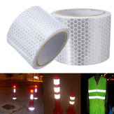 5cm X 3m Silver White Reflective Safety Warning Conspicuity Tape Sticker Film