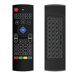 MX3 White Backlit Wireless 2.4G Six Axis Gyroscope Keyboard Remote Control Air Mouse IR Learning