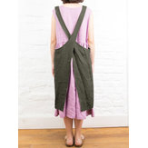 Original Women Japanese Style Cotton Dress Linen Pinafore Aprons