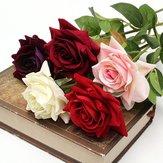 Tissu unique rose artificielle faux bouquet de fleurs fête de mariage décoration de la maison