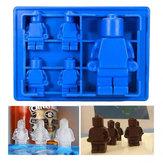 Mini Figure Robot Ice Cube Tray Mold Baking Mold Chocolate Cake Jelly Jello Silicone Mold Fondant Moulds