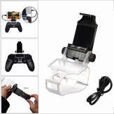 Game Controller Handle Clip Mobile Phone Clamp Holder with OTG Cable For PS4