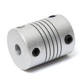 Original 2pcs 5mm x 8mm Acople de Eje Flexible de Aluminio OD19mm x L25mm Paso a Paso motor CNC Conector