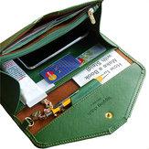 Universal PU cuir grande capacité de carte Slot Stylus porte-monnaie Clutch Wallet pour le téléphone sous 5.5 pouces