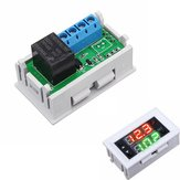 5pcs Mini 12V 20A Digital LED Dual Display Timer Relay Module With Case Timing Delay Cycle