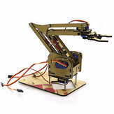 DIY 4DOF Arduino Acrylic RC Robot Arm Gripper Educational Kit With MG90S Servos