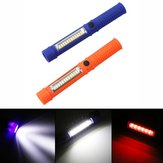 5W Portable Mini LED COB Inspection Work Pen Light Battery Powered Magnet Camping Flashlight Torch