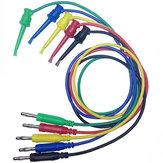 DANIU 5pcs 4mm Banana Plug en cuivre fil de câble de câble pour crochet de test double
