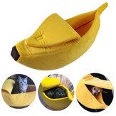 كلب القط سرير دافئ البيت حصيرة المعمرة بيت الكلب الكلب Soft جرو وسادة الموز شكل سلة