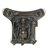 Steampunk Waist Leg Leather Bag Hip Holster Purse Vintage Pouch Belt Punk Locomotive Bag