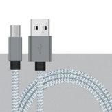 Original Bakeey 2.4A Micro USB Nylon Cable de datos de carga rápida trenzada para Xiaomi HUAWEI OPPO Android teléfono