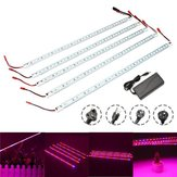Original 5PCS 50CM SMD5050 Non-waterproof 5:1 LED Strip Light + 5A Power Adapter for Grow Plant Garden DC12V