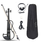 4/4 Size Basswood Electric Violin Alloy String Headphone With Case For Violin Beginner