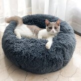 Cat/Dog Pet Nest Autumn and Winter Warm Super Soft Long Hair Cat Litter Round Depth Cat Litter Super Cute Kennel