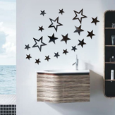 3D Star Multi-color DIY Shape Mirror Wall Stickers Home Wall Bedroom Office Decor