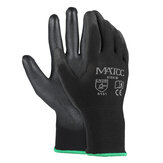 12Pairs PU Nitrile Coated Safety Work Gloves Garden Builders Grip Anti-slip Size M/L/XL