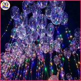 Luminous Led Balloon Transparent Round Bubble Decoration Party Wedding