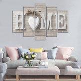 5PanneauxAmourHOMEWallArt Imprimer Photos Toile Wall Art Imprime Sans Cadre Pour Les Décorations Pour La Maison