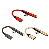 Bakeey 2 In 1 Type-C 3.5mm Headphone USB-C Jack Adapter Convertor Audio Cable for Mobile Phone