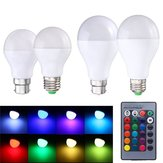 9W E27 B22 RGB Memory Function 16 Colors Changing LED Light Lamp Bulb  + Remote Control  AC85-265V