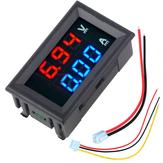 5pcs nMini numérique voltmètre ampèremètre DC 100V 10A voltmètre testeur de mètre actuel bleu + rouge double affichage LED